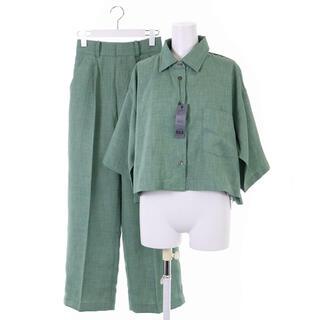 ジーナシス(JEANASIS)のジーナシス セットアップ 上下 シャツ パンツ F 緑(その他)