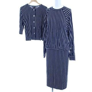 アニエスベー(agnes b.)のアニエスベー セットアップ 上下 カーディガン カットソー スカート 3 紺(カットソー(長袖/七分))