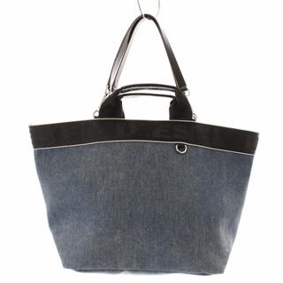 ディーゼル(DIESEL)のディーゼル トートバッグ ハンドバッグ 2way デニム キャンバス 青 黒(トートバッグ)