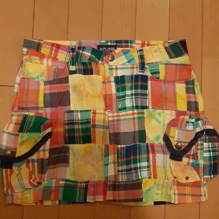 ラルフローレン(Ralph Lauren)のラルフローレンRalphLAURENカラフルチェック柄ミニスカート160サイズ(ウエア)