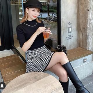エイミーイストワール(eimy istoire)のDarich♡チェックプリーツニットスカート(ミニスカート)