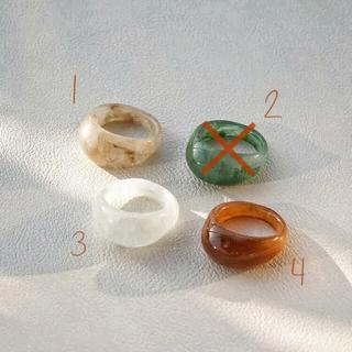 ディーホリック(dholic)のぷっくりリング 指輪 クリアリング 韓国 アクセサリー(リング(指輪))