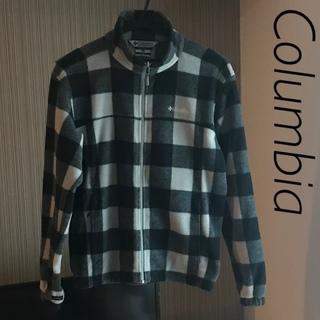 コロンビア(Columbia)のColumbia メンズ フリース ジャケット グレー チェック(その他)