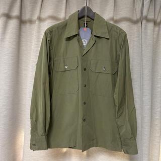 コモリ(COMOLI)のKAPTAIN SUNSHINE オープンカラーシャツ 36サイズ オリーブ(シャツ)