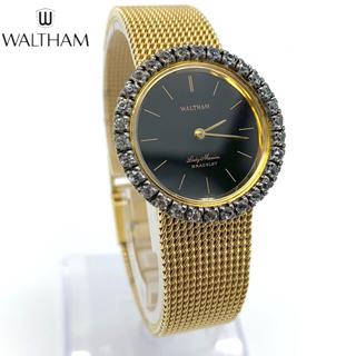 ウォルサム(Waltham)のウォルサム レディース RG ダイヤ 宝石 手巻き ハイブランド 腕時計(腕時計)