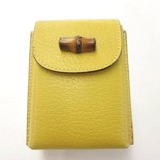 Gucci - グッチ トランプ 2種 セット カードケース バンブー レザー イエロー 黄色