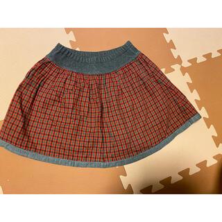 familiar - 美品 familiar 定番柄可愛いスカート 110