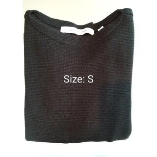 ルメール(LEMAIRE)のユニクロ×ルメール ボートネックカットソー ブラック S(Tシャツ/カットソー(七分/長袖))