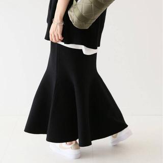 イエナスローブ(IENA SLOBE)の完売品 21aw スローブイエナ ミラノリブヘムフレアスカート(ロングスカート)