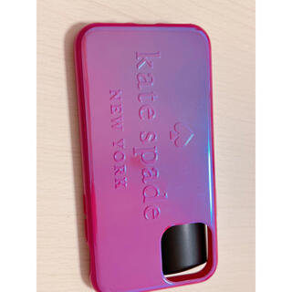 kate spade new york - ケイトスペードiPhone11proメタリックロゴケース