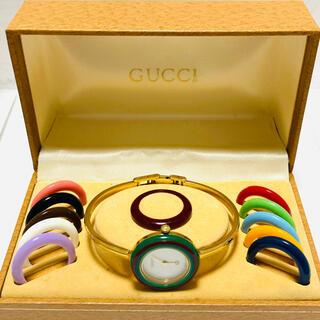 Gucci - 大人気! GUCCI グッチ チェンジベゼル 電池新品交換済み レディース腕時計