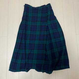 DEPT - DEPT wool long check skirt