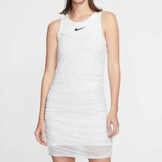 ナイキ(NIKE)のL NIKE  タンクトップ ワンピース ドレス ホワイト(ミニワンピース)