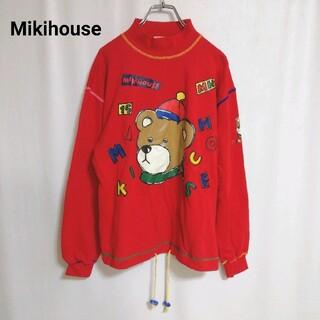 ミキハウス(mikihouse)の古着 MIKI HOUSE スウェット トレーナー 熊 プリント 中厚手(トレーナー/スウェット)