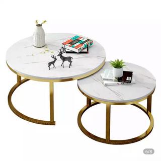 フランフラン(Francfranc)の大理石テーブル(コーヒーテーブル/サイドテーブル)