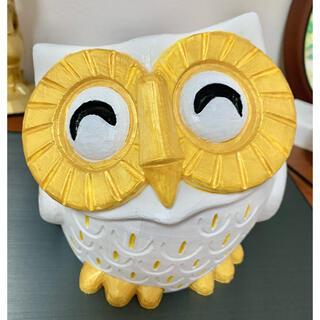 笑フクロウ鉢 SMILING OWL POT(プランター)