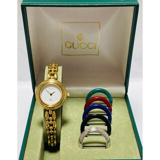 Gucci - 極美品! GUCCI グッチ チェンジベゼル 電池新品交換済み レディース腕時計