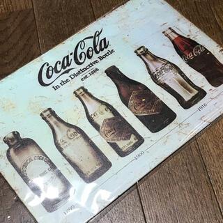 コカコーラ(コカ・コーラ)のコカコーラ 歴代ボトル ヒストリー ブリキ看板(ソフトドリンク)