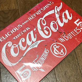 コカコーラ(コカ・コーラ)のコカコーラ ショッキングピンク ブリキ看板(ソフトドリンク)