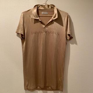 エンポリオアルマーニ(Emporio Armani)のアルマーニ メンズ ポロシャツ シャツ ゴルフ アウトドア ゴールド 高級(ポロシャツ)
