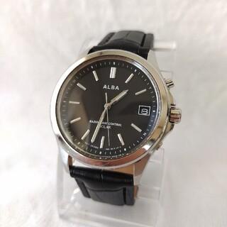 ALBA - セイコーSEIKOアルバalbaメンズステンレス電波ソーラー腕時計レザーベルト