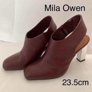 ミラオーウェン(Mila Owen)の【ミラオーウェン】ブーティ ショートブーツ メタルヒール 23.5cm(ブーティ)