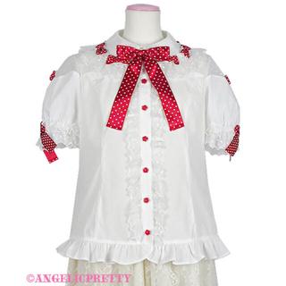 アンジェリックプリティー(Angelic Pretty)のスカラップチュールブラウス ホワイト(シャツ/ブラウス(半袖/袖なし))