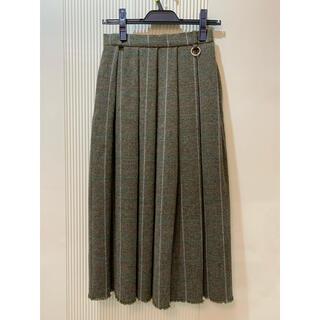 ルシェルブルー(LE CIEL BLEU)の定価24000円 新品タグ付 LECIELBLUE ウールプリーツスカート(ひざ丈スカート)