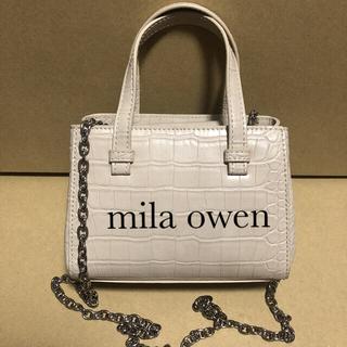 ミラオーウェン(Mila Owen)のミニ ショルダー ベージュ (ショルダーバッグ)