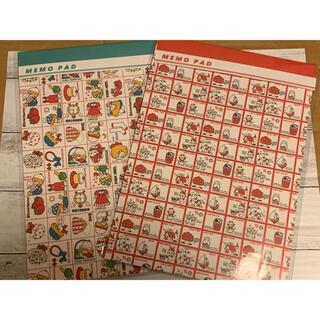 シモジマ レトロ包装紙柄 メモパッド2種 ストップペイル他(ノート/メモ帳/ふせん)