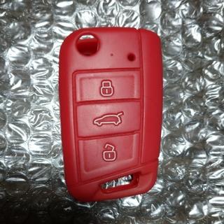 Volkswagen - フォルクスワーゲン キーカバー シリコン 赤