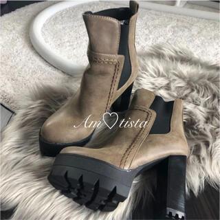 エイチアンドエム(H&M)の必見♡ショートブーツ♡ブラウン♡24〜24.5㎝(ブーツ)