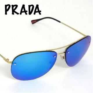 PRADA - 【極美品】プラダ SPS50R サングラス メンズ ブルー×ゴールド