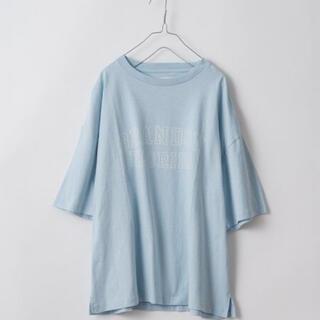 WHIMSIC kastane マルチロゴTシャツ 水色