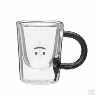 Starbucks Coffee - スターバックス ハロウィン2021耐熱グラスマグゴースト マグカップ 黒猫