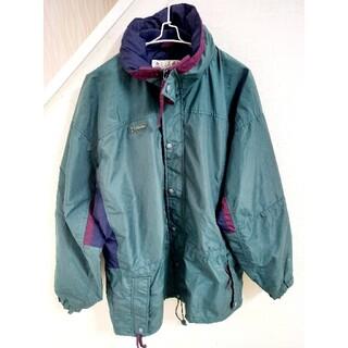 コロンビア(Columbia)の90s Columbia マウンテンジャケット 刺繍ロゴ 緑 古着 ナイロン(その他)