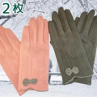 マイクロボア レディース 手袋 グローブ  裏ボア スマホ対応 裏起毛 ボア手袋(手袋)