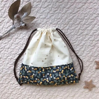 【handmade】巾着袋S リバティ使用(外出用品)