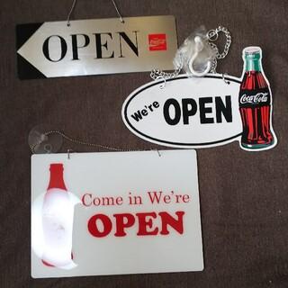 コカ・コーラ - コカ・コーラ オープン クローズ看板