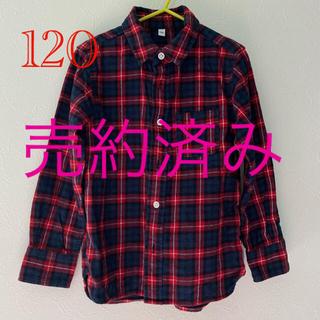 ムジルシリョウヒン(MUJI (無印良品))のネルシャツ 120  無印良品(ブラウス)