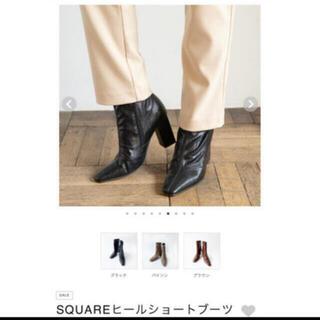 シールームリン(SeaRoomlynn)の【新品未使用】シールームリン SQUAREヒールショートブーツ(ブーツ)