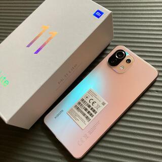 ANDROID - Xiaomi mi 11 lite 4G ピンク グローバルモデル