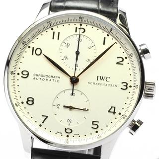 IWC - ☆良品  IWC ポルトギーゼ クロノグラフ IW371401 メンズ 【中古】