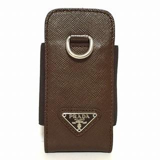 プラダ(PRADA)のプラダ 携帯電話ケース - ダークブラウン(モバイルケース/カバー)