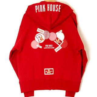 ピンクハウス(PINK HOUSE)のピンクハウス♡パッチワーク使いパーカー定価24,200円(パーカー)