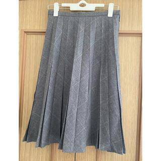 シーディーエスベーシック(C.D.S BASIC)のチェック柄プリーツスカート(ひざ丈スカート)