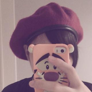 シマムラ(しまむら)のボルドー ベレー帽(ハンチング/ベレー帽)