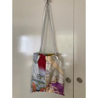 イエナ(IENA)の美品 マニプリ manipuri プリント スカーフ トートバッグ S(トートバッグ)