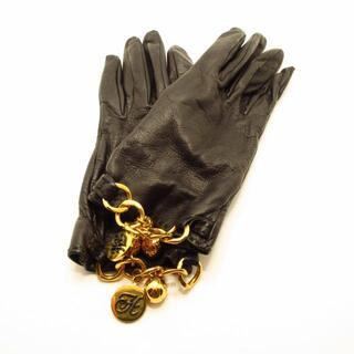 エルメス(Hermes)のエルメス 手袋 レディース - 黒 レザー(手袋)