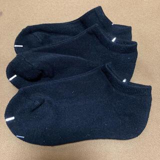 ムジルシリョウヒン(MUJI (無印良品))の新品未使用!キッズ靴下 3枚セット 15-18cm ブラック(靴下/タイツ)
